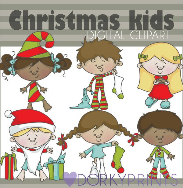 kids christmas clipart digital clip art and christmas clipart rh pinterest com Santa with Manger Breakfast with Santa Clip Art
