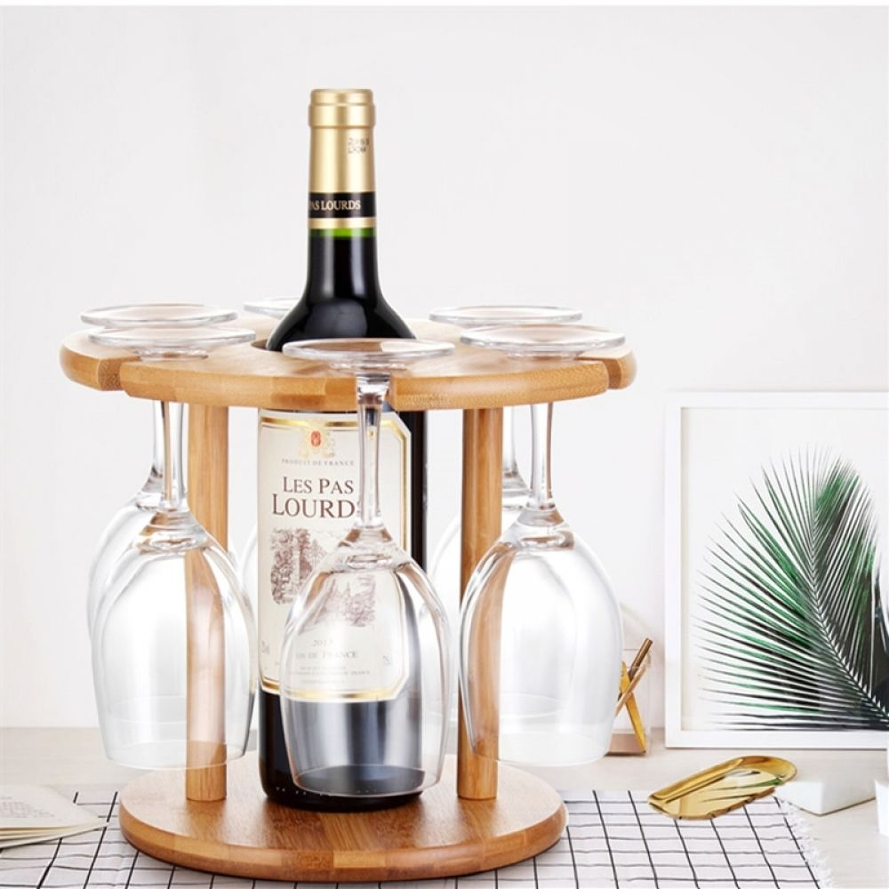 Solid Wood Wine Bottle Glass Holder Wine Glass Drying Wine