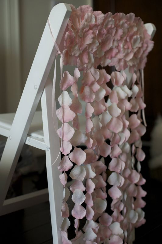 Chair Swag Wedding Chair Decoration Ideas Chair Covers - Beautiful diy white flowers chandelier
