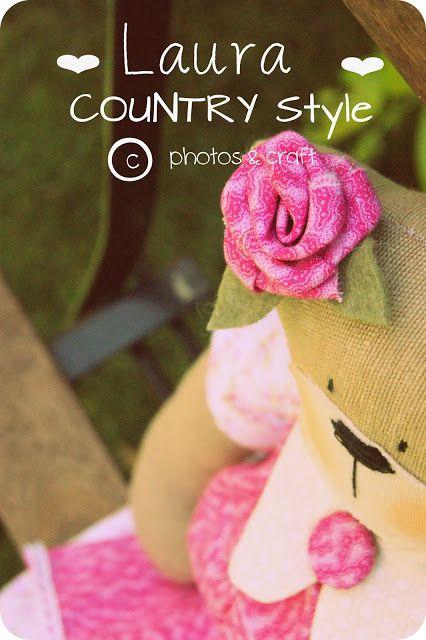 Country style: A lovely teddy bear