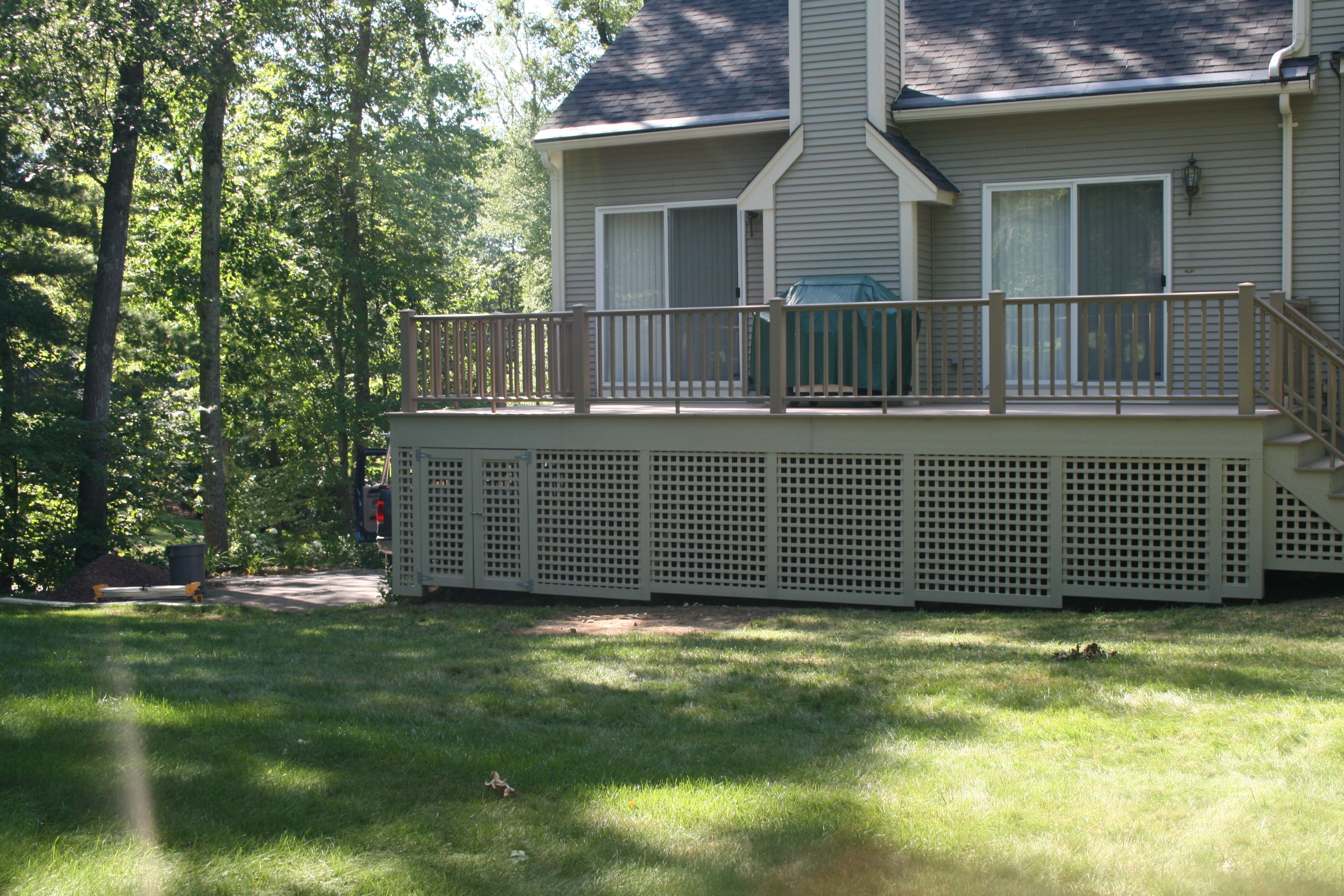 What To Use To Enclose The Area Under Your Deck Lattice Deck Decks And Porches Deck Designs Backyard