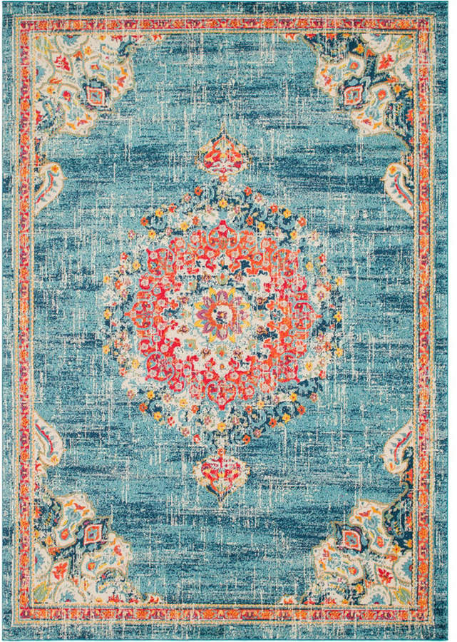 Bridgeport Home Lorem Lor1 Turquoise 10 X 14 Area Rug Reviews Rugs Macy S Area Rugs Rugs Orange Area Rug