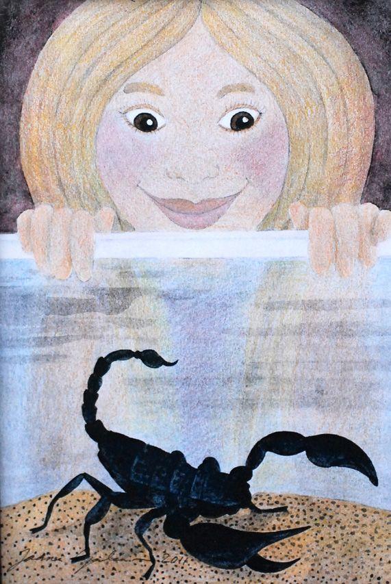 Skorpioni-sisustustaulu tytön huoneeseen. www.hienostella.fi