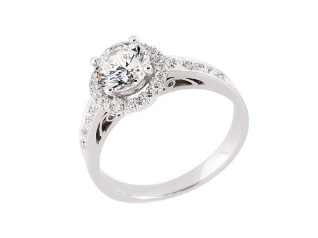 Platinum Engagement Ring Bridal Jewelry from Pineforest Jewelry