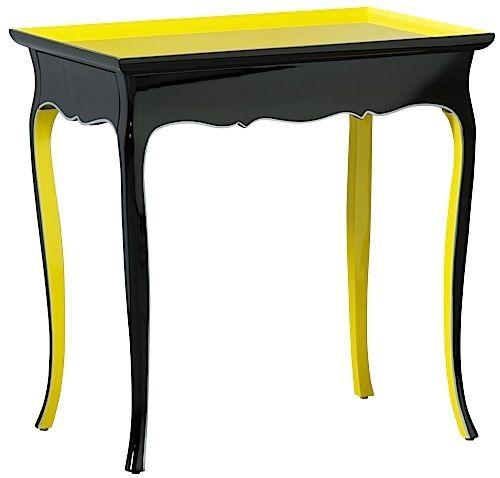 mis en demeure side table languedoc lq black lq yellow silver mobilier par mis en demeure. Black Bedroom Furniture Sets. Home Design Ideas