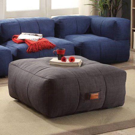 Amazing Coaster Company Lazy Life Paris Ottoman Grey Gray Machost Co Dining Chair Design Ideas Machostcouk