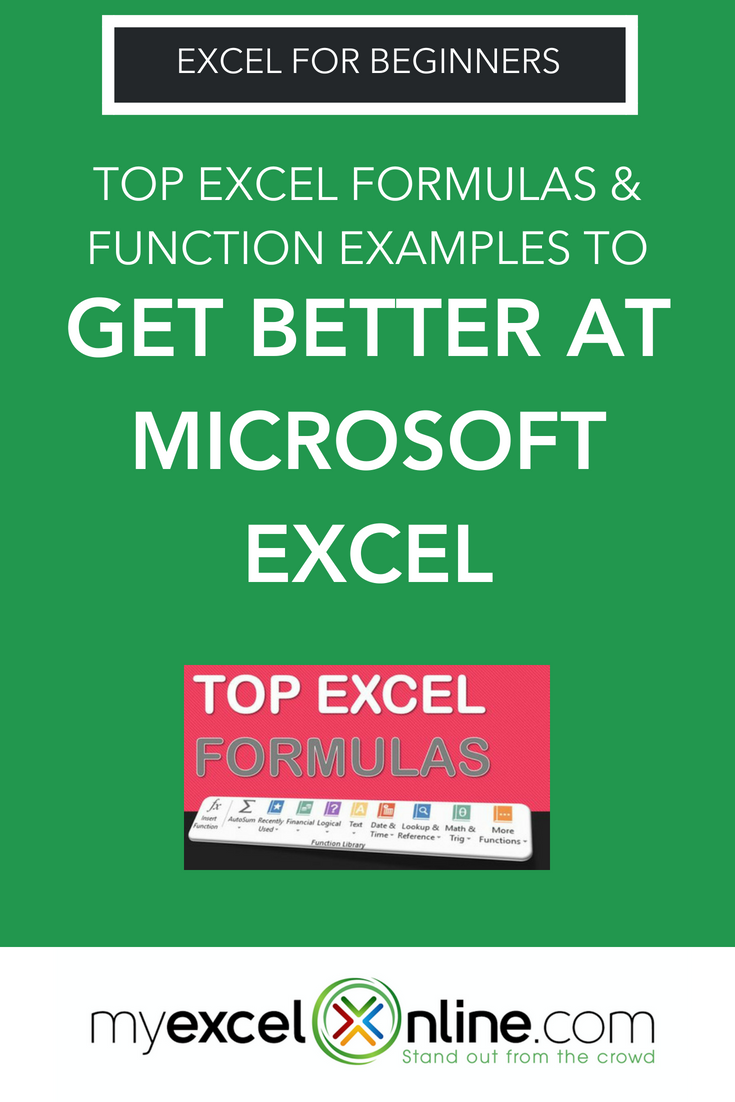 Excel Formulas & Functions Examples Excel for beginners