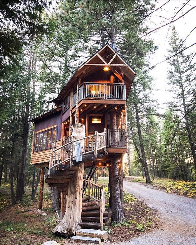Montana Treehouse Retreat Perfect Fall Escape To This