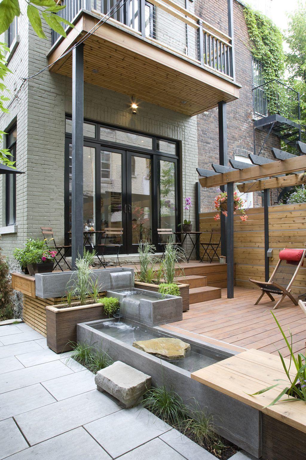 Harmonious Urban Landscape Modern Home Victoria Small Backyard Landscaping Backyard Backyard Landscaping