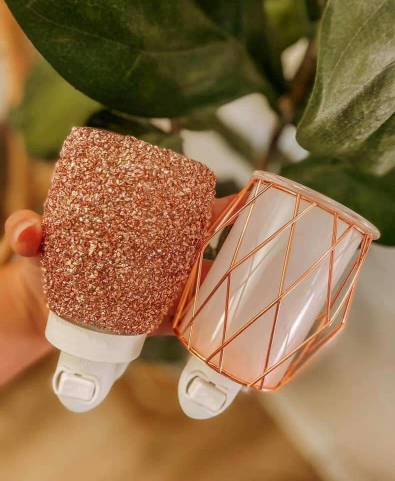 Glitter rose gold mini warmer in 2020 scentsy wax