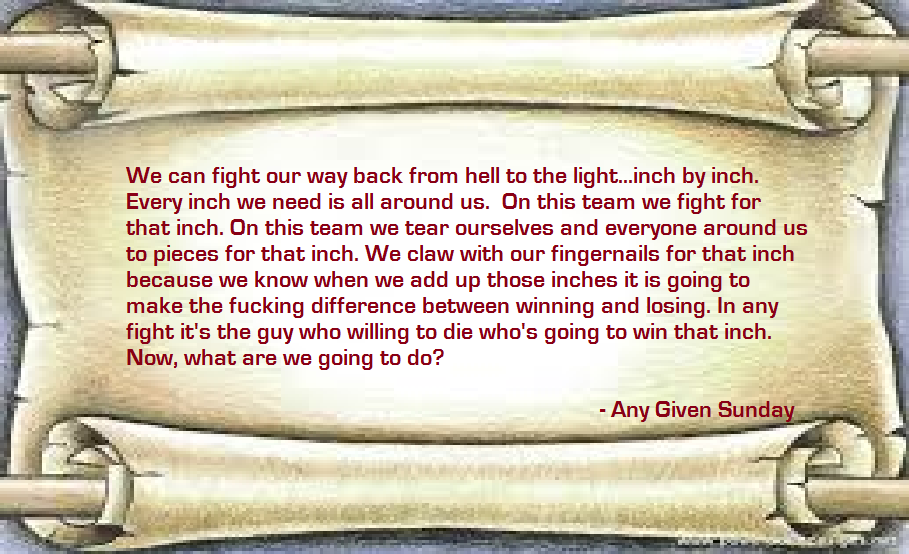 any given sunday speech quotes quotesgram