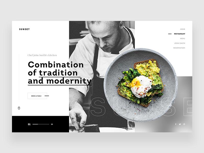 Sunset Restaurant Website Food Web Design Restaurant Website Design Web Layout Design