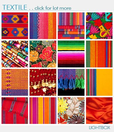 Textile Detail with Latin American Color Pattern Mexican colors