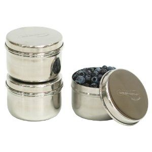 mini stainless steel containers. Perfect for storing