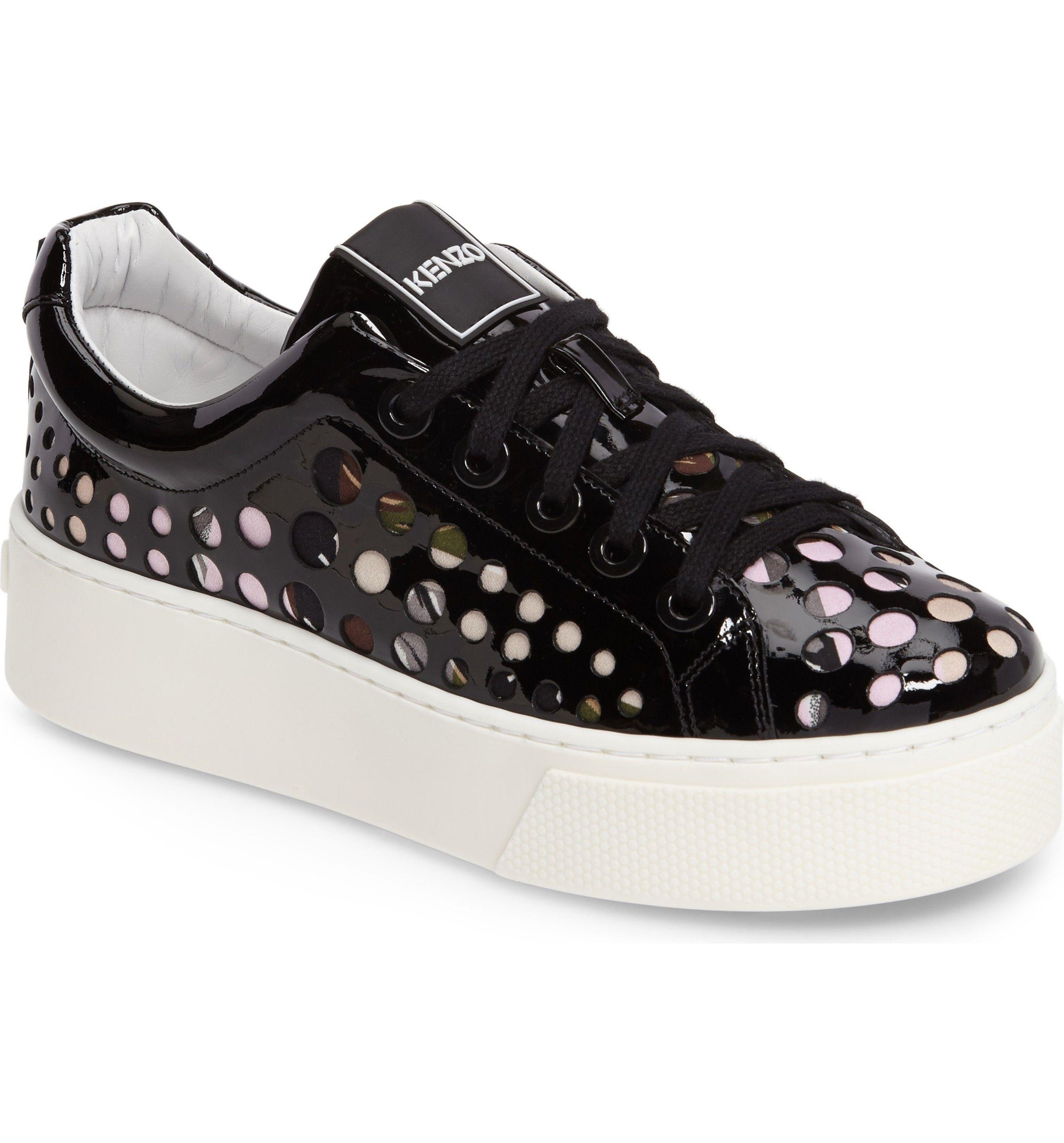 1d22b2c26a99 Main Image - KENZO K-Lace Platform Sneaker (Women) Black Sneakers