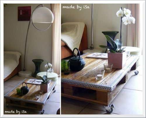 Recyclage Palette: table basse nomade #1 | I want to learn ...