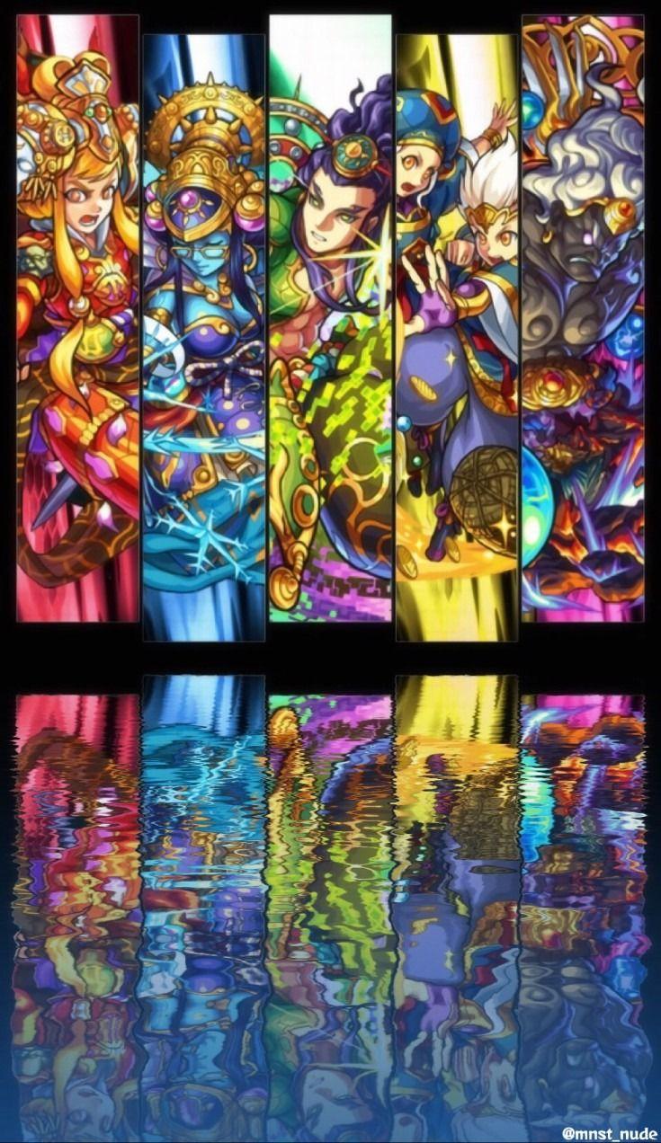 モンスト 新超絶勢 Iphone6 壁紙 完全無料画像検索のプリ画像 Monster Strike Fantastic Art Art