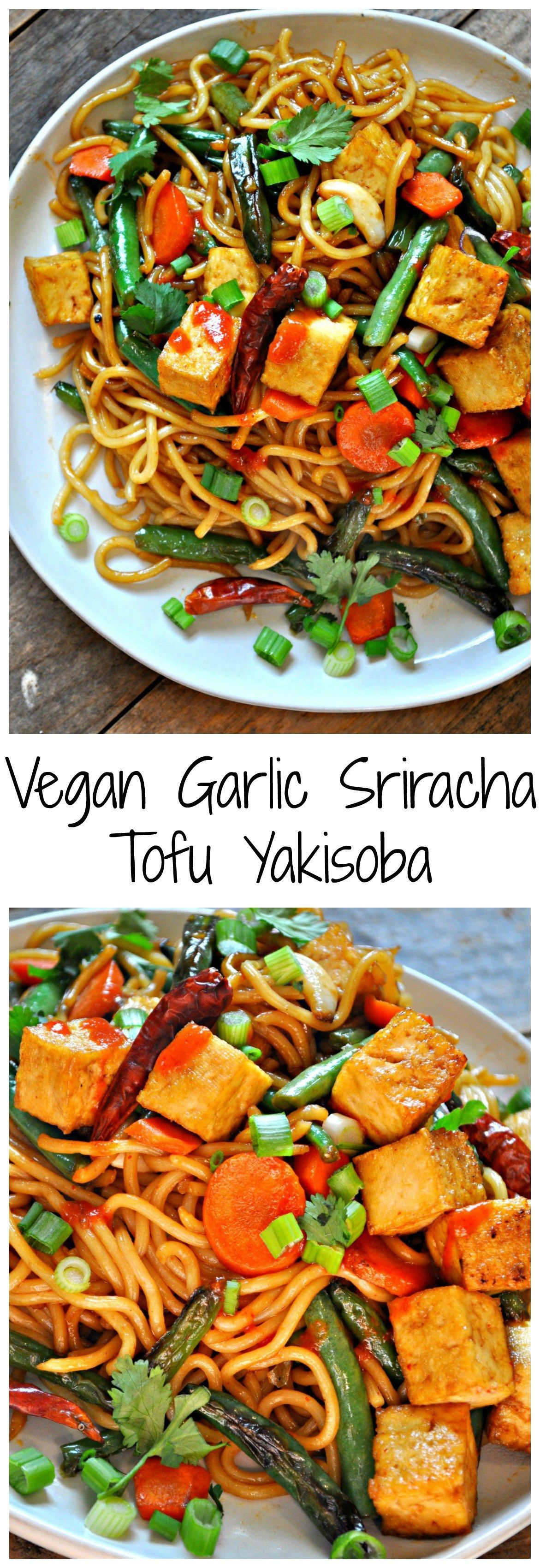 A Healthy And Quick Meal, This Vegan Garlic Sriracha Tofu