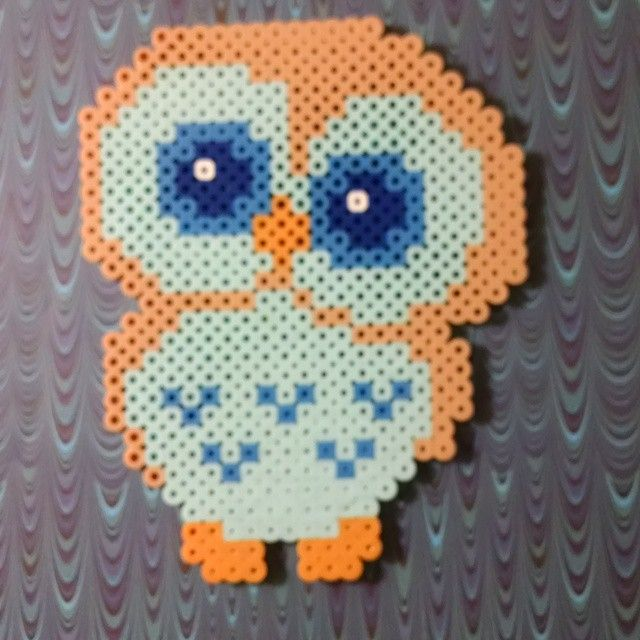 owl perler beads by doucetcreations pelplator. Black Bedroom Furniture Sets. Home Design Ideas