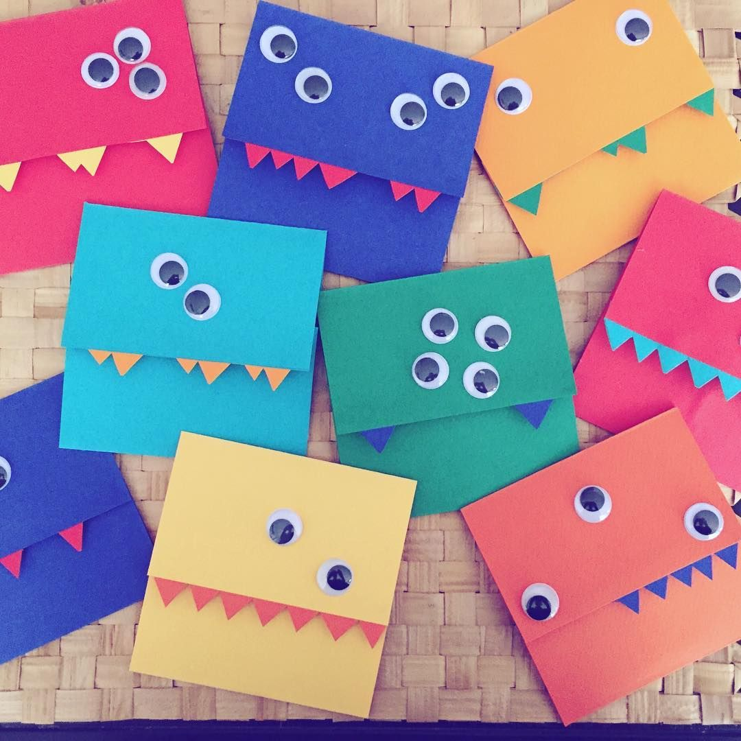 Birthday Card Kid Birthdaycard Monsters 6years Happy Invitation Homemade Riri DIY Invitationcards