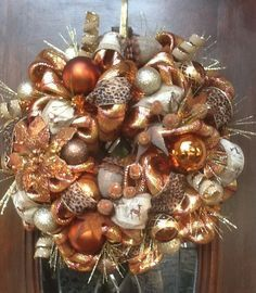 christmas wreaths and swags on Pinterest | Gold Christmas ...