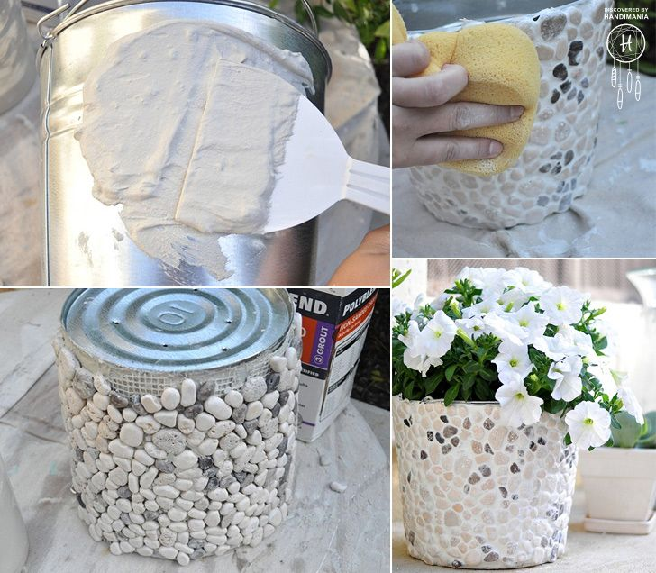 A DIY outdoor plant pot. Who said you have to spend an arm and a leg to decorate your courtyard? Simple, Attractive & Cheap!