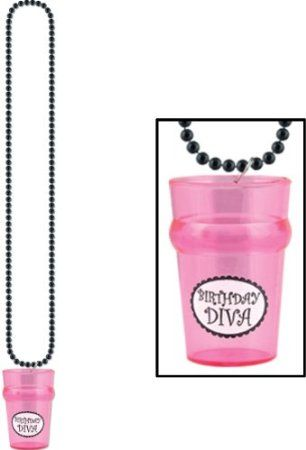 Beistle 50894 2-1/2-Ounce Beads with Birthday Diva Glass, 33-Inch $4