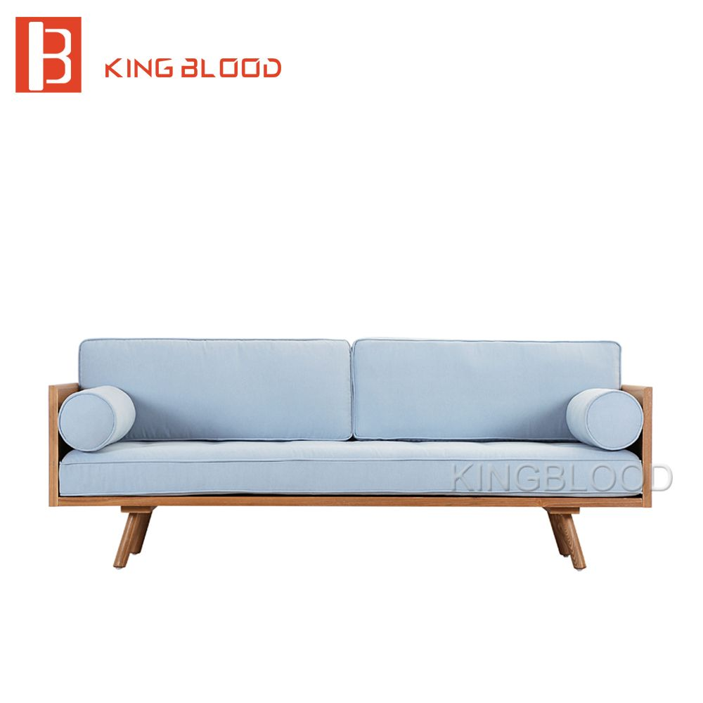 Low Price Modern Nordic Fabric Home Lobby Wooden Sofa Set Design