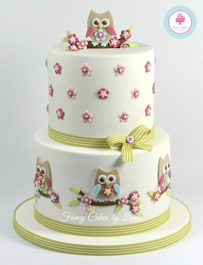 2 Tier Owl Celebration/Birthday Cake. The cutter I used