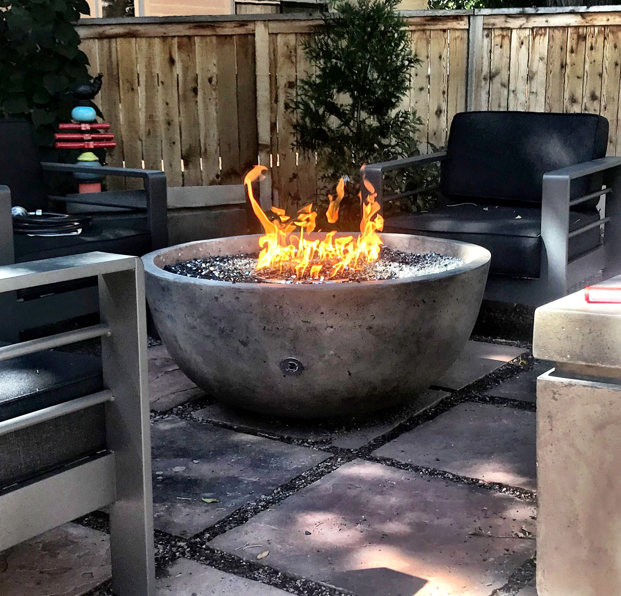 Large Round Propane Or Natural Gas Fire Bowls Gas Fire Pits Outdoor Fire Pit Backyard Diy Gas Fire Pit