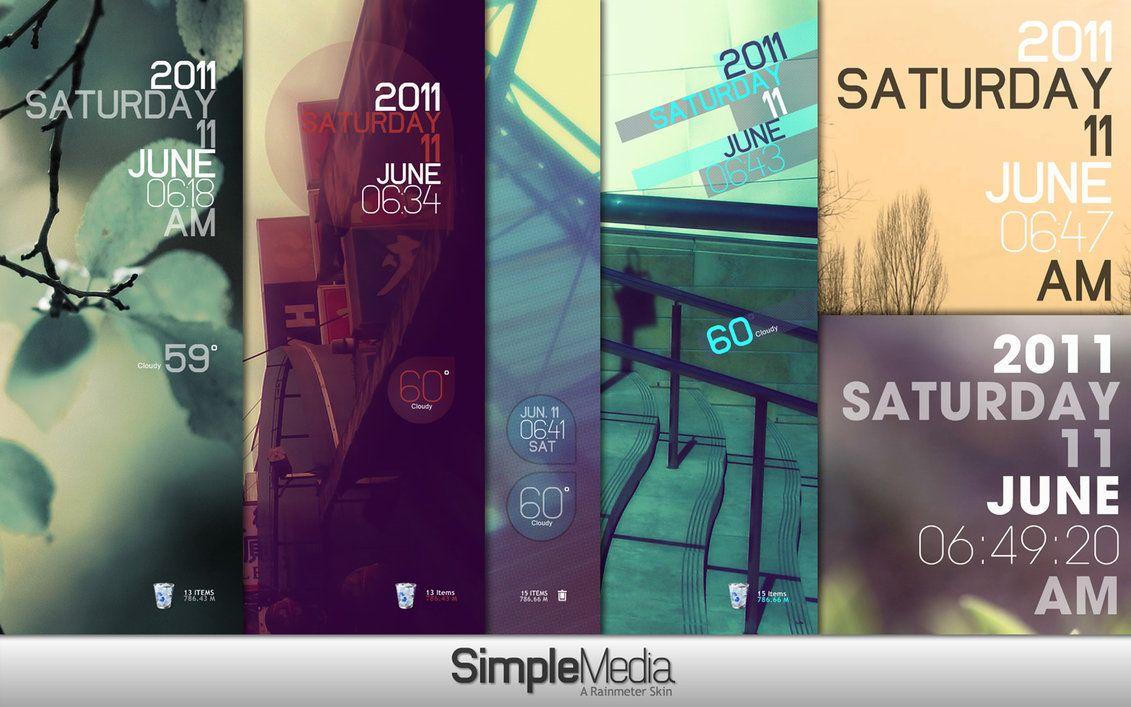 Rainmeter Simple Media 1.1 by lilshizzy on deviantART