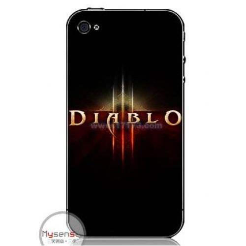 Diablo 3 iPhone 4, 4S protective case (Black)