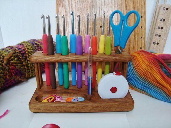 Wood Crochet Hook Holder | Crochet hooks, Woods and Needle case