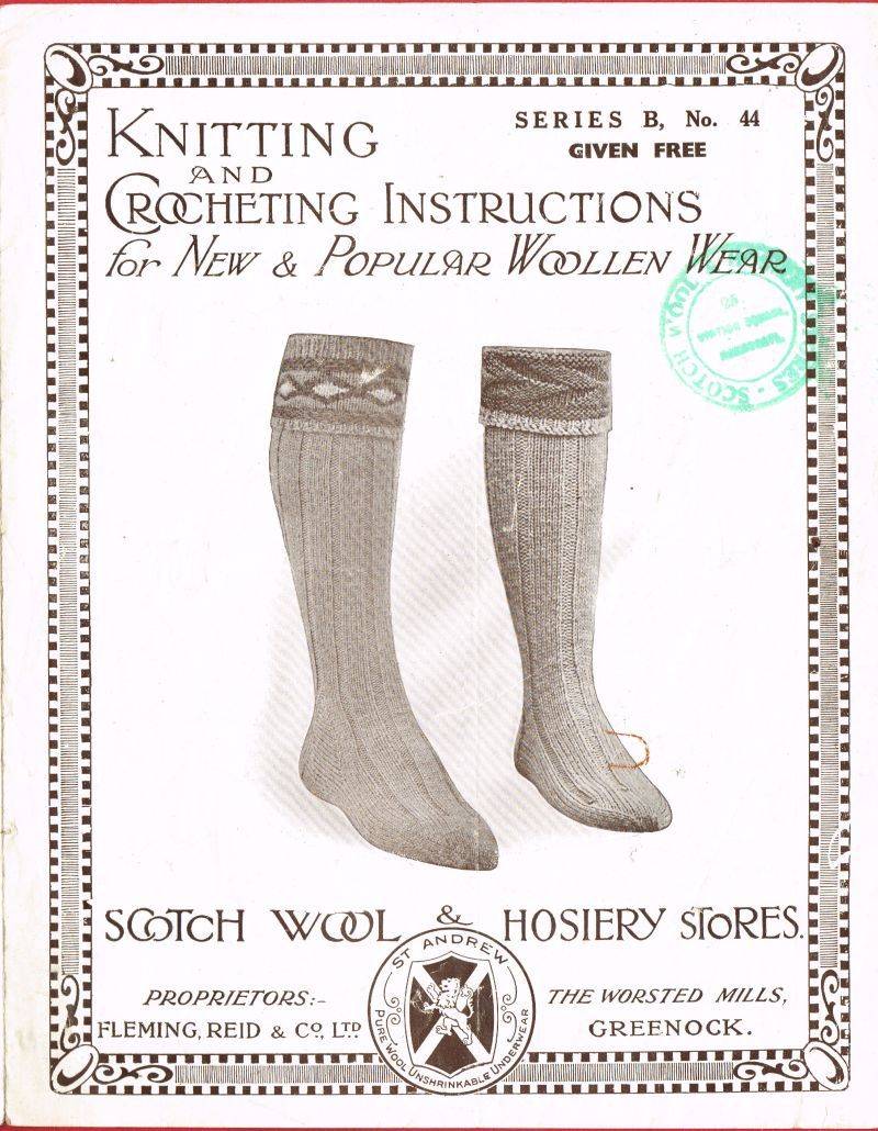 8a4a09c47c72a Greenock 44 socks vintage knitting pattern PDF Download ...