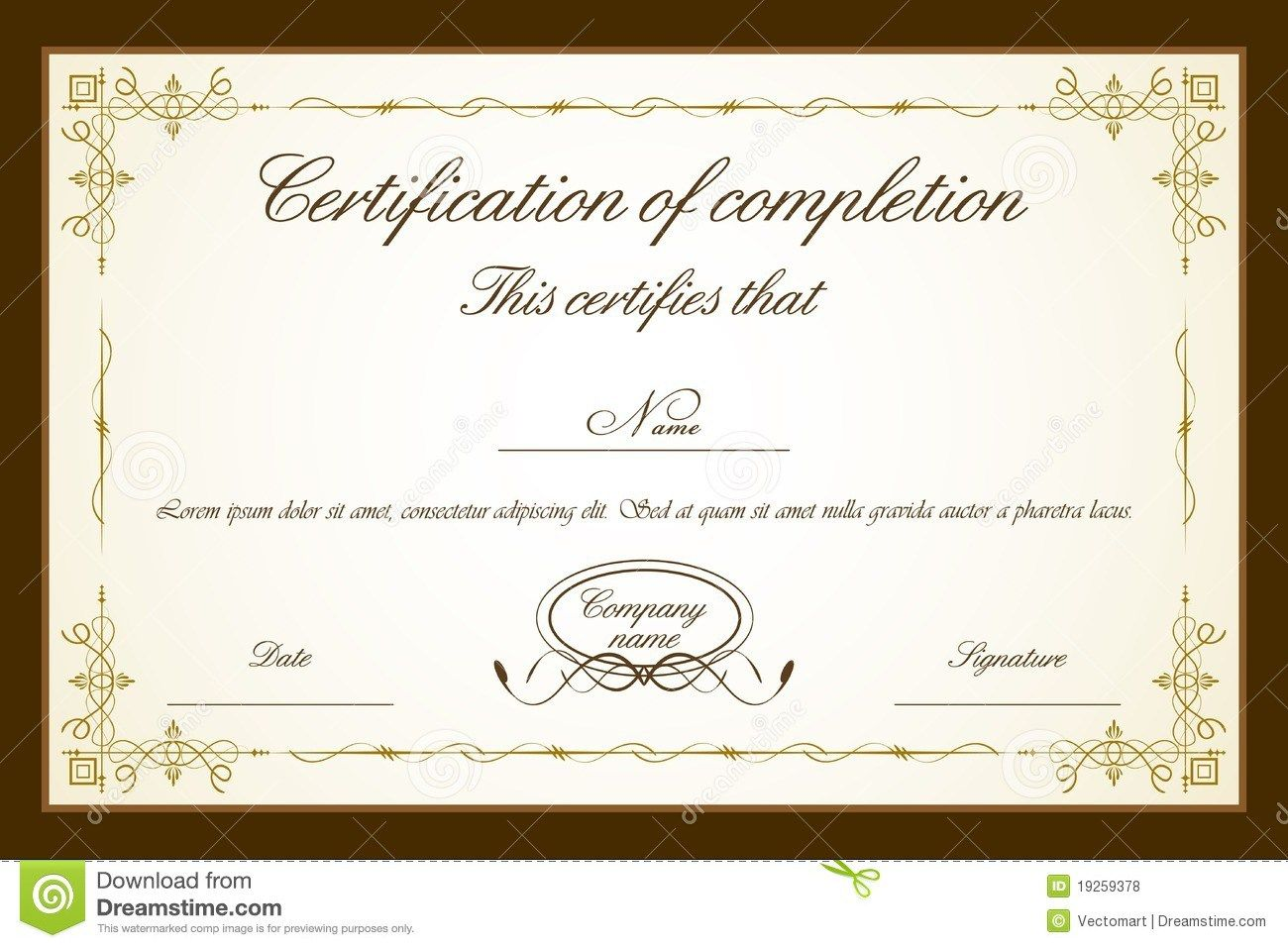 Certificate Template Royalty Free Stock Photos Image