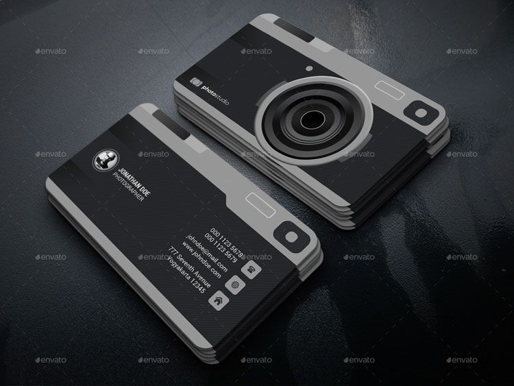 camera-photography-business-card-template.jpg (750×563) | visiting ...