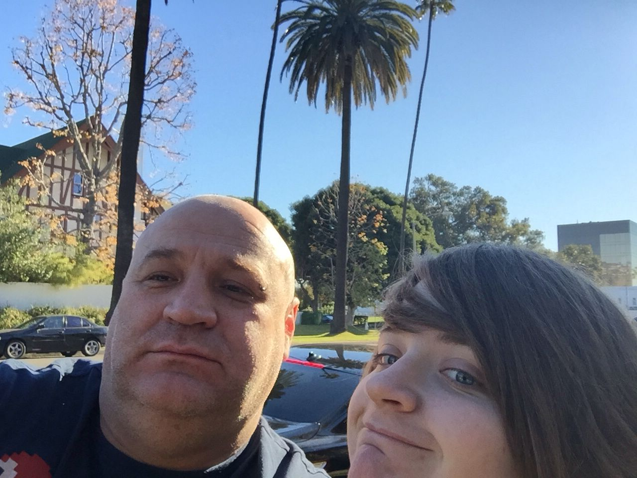 Me and Bex in Beverly Hills US