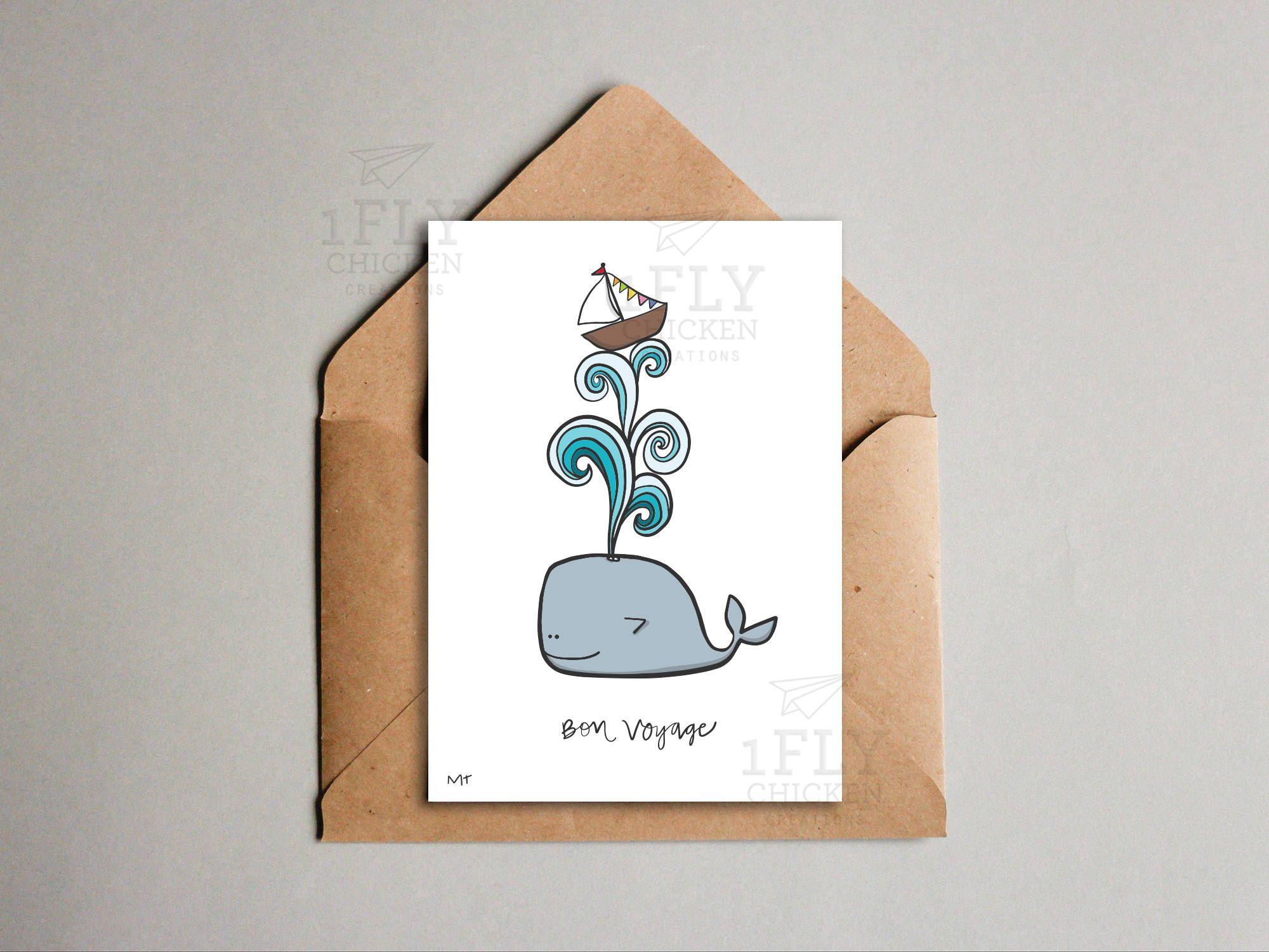 Printable Goodbye Card Cute Whale Goodbye Good Luck Card Etsy Good Luck Cards Goodbye And Good Luck Cards