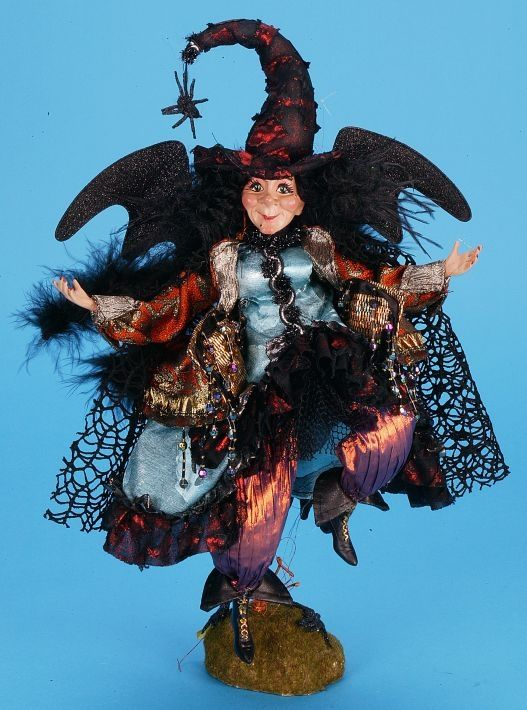Mark Roberts 14 Inch Whimsical Witch Halloween Doll Witch Doll Halloween Witch