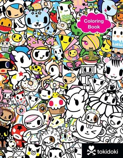 Tokidoki Coloring Book Coloring Books Sketch Book Postcard Book