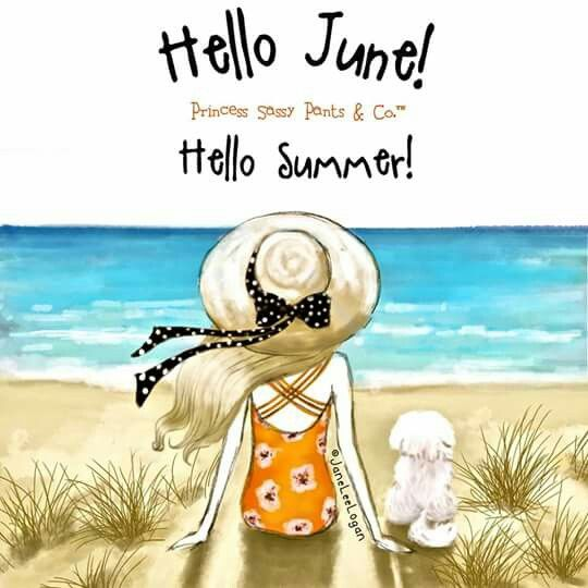 Hello June! Hello to You on my Boards