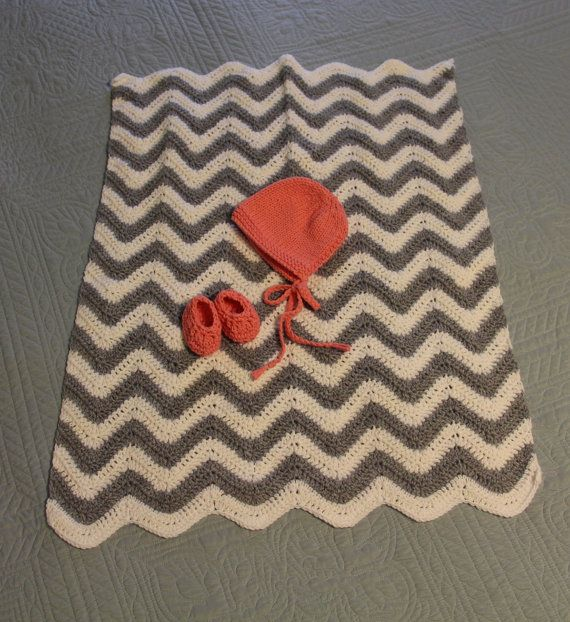 50-Cent Chevron Baby Blanket Crochet Pattern -- Easy Project Perfect ...