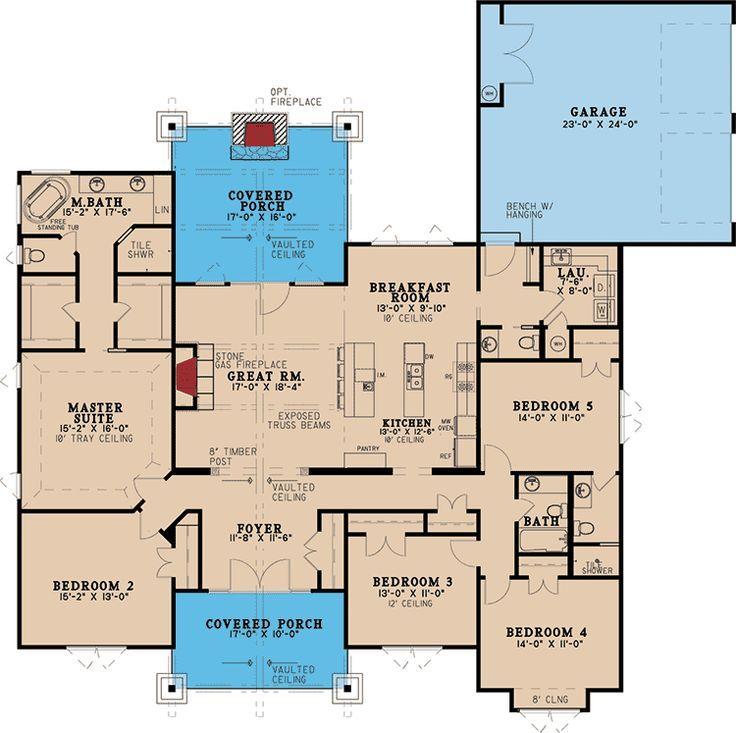 Plans Maison En Photos 2018 u2013 Five Bedroom Rustic House Plan u2013 70532MK