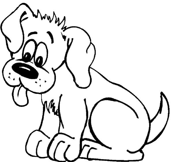 dog cute dog coloring page
