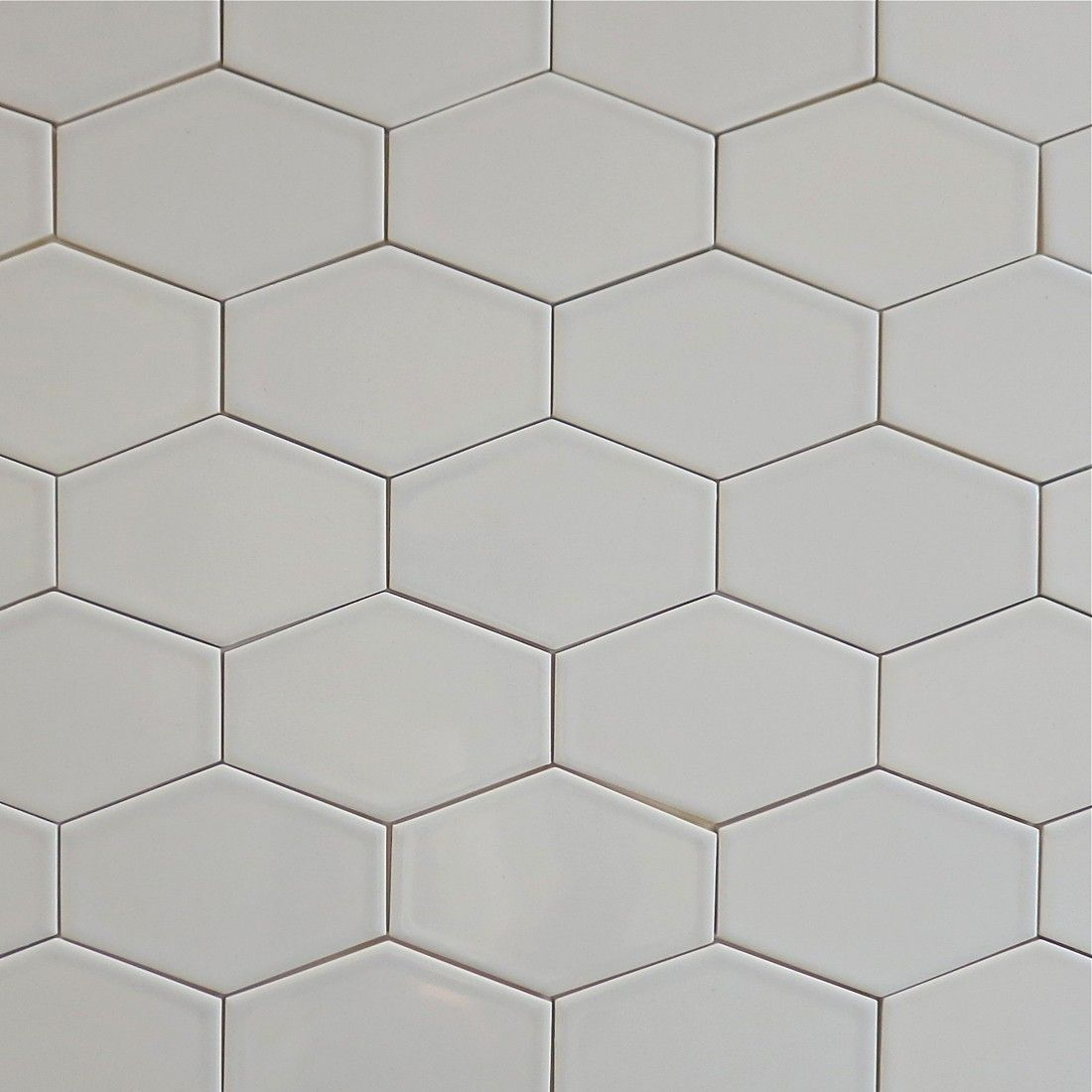 Clayhaus Stretch Hex Tile Silver Fox Our Ceramic Stretched In Color