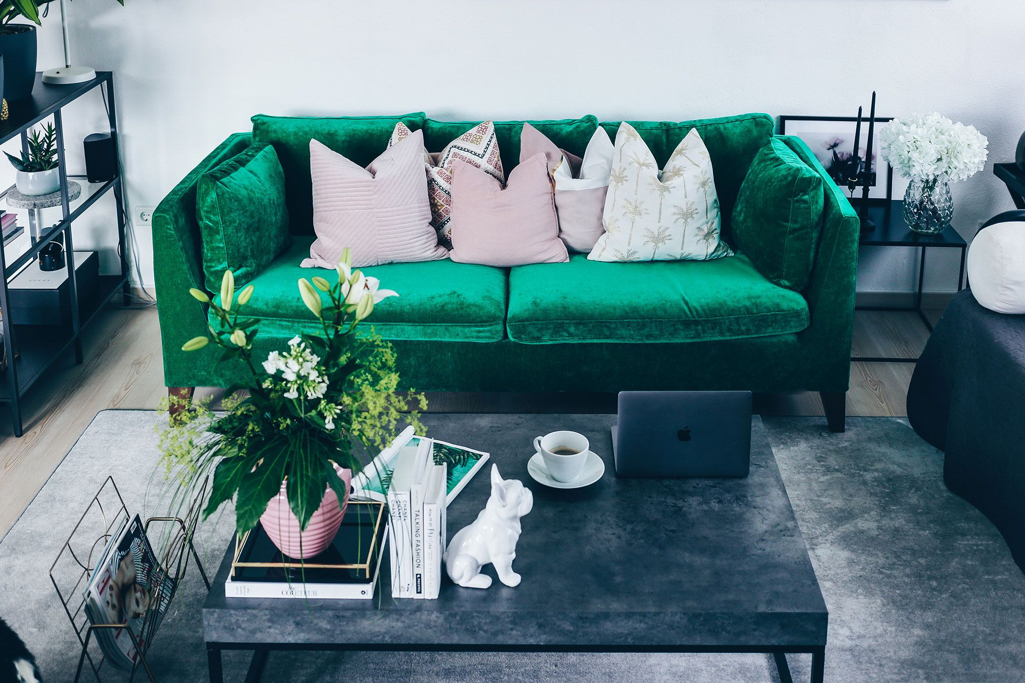 Blogger Who is Mocca updated her IKEA Stockholm sofa with a