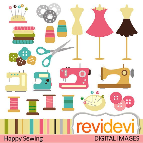 Sewing clipart Commercial use - sewing machine, mannequin, thread ...