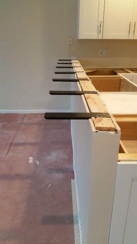 Knee Wall Countertop Support Bracket Kitchen Remodel Countertops Countertop Support Knee Wall