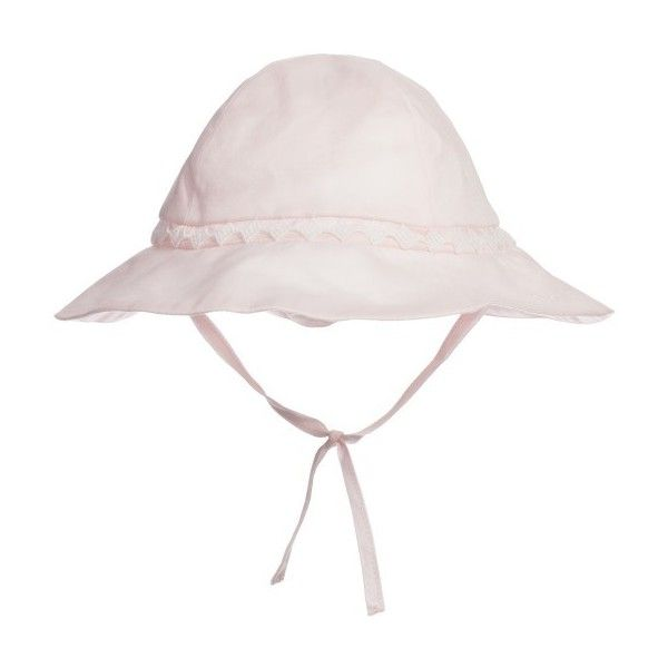 Chloé Baby Girls Bright Pink Cotton Sun Hat ❤ liked on Polyvore