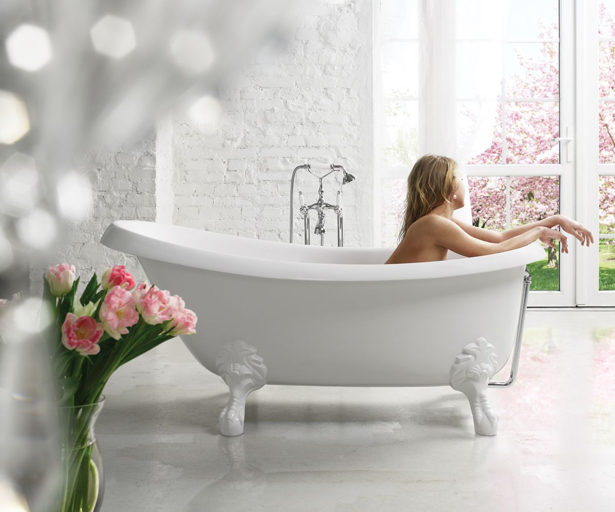 Aquatica Nostalgia Wht Stn Legs Freestanding Cast Stone Bathtub Stone Bathtub Clawfoot Tub Slipper Tubs